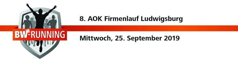8. AOK Firmenlauf Ludwigsburg am Mittwoch, 25. September 2019 - Start: 18.00 - Residenzschloss