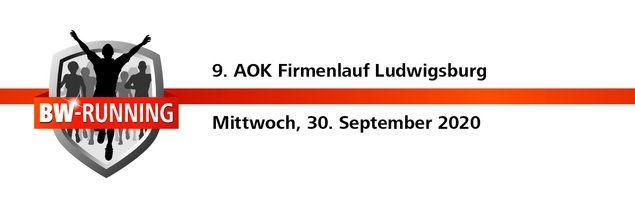 9. AOK Firmenlauf Ludwigsburg am Mittwoch, 30. September 2020 - Start: 18.00 - Residenzschloss